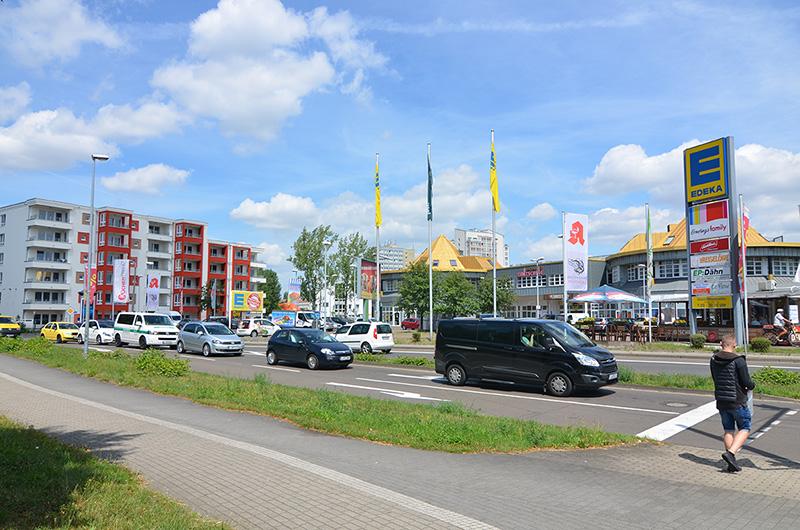 Ansicht des Permoser Ecks in Leipzig