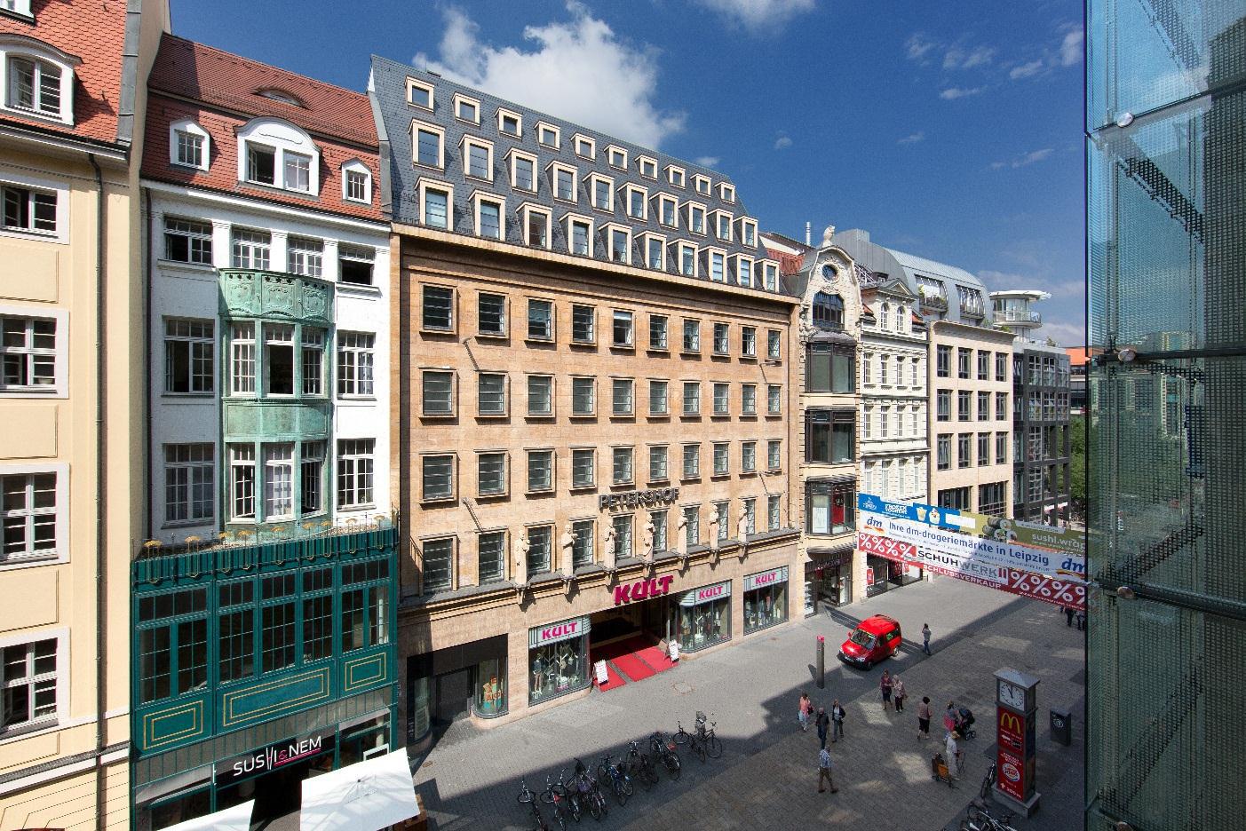 Der Petershof ist eines der bekanntesten historischen Gebäude der Leipziger Innenstadt