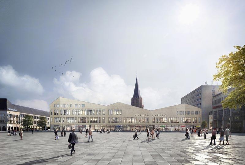 Anstelle des Radisson Blu Hotels entsteht künftig das Marien-Carrée an der Treptower Straße 1 in Neubrandenburg