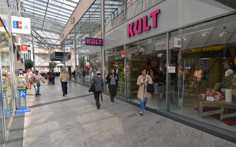 Die Rathaus-Galerie befindet sich in bester Innenstadtlage Dormagens