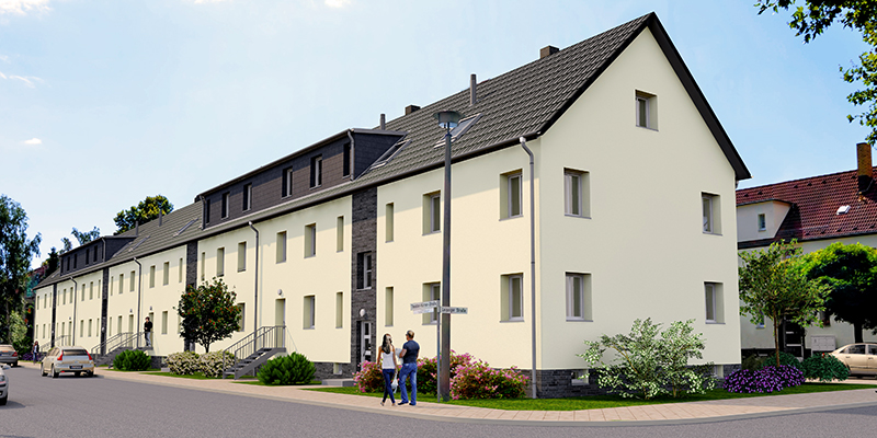 Rendering of the residential project on Theoder-Körner-Straße in the 'garden city' of Taucha