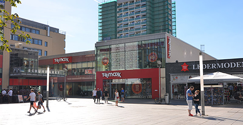 commercial building with TK Maxx