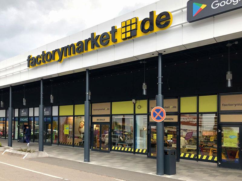 Ein Beispiel für einen Factorymarket-Shop nahe Berlin