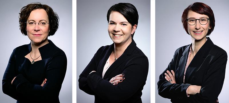 Sandra Schulz (43 Jahre), Sandra Böhland (40 Jahre) und Constance Schwarz (36 Jahre)