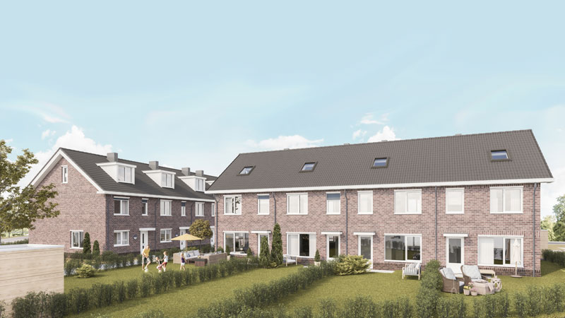 "Visualisation of the future residential project ""Eulenhof"" in Krostitz"