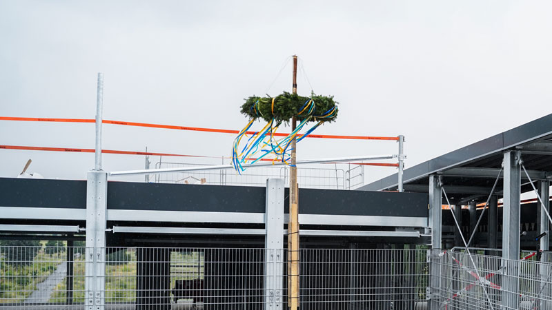 """Topping out ceremony for """"Northgate"""" multi-storey car park"""