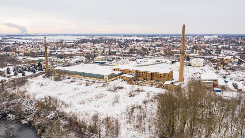 Luftaufnahme des Gewerbeareals in Liebertwolkwitz, Leipzig