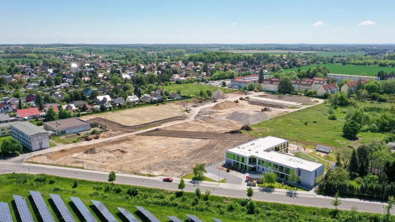 """An der Eilenburger Straße in Taucha entsteht die """"Gartenstadt"""". Noch in diesem Jahr soll der Bau des Wohnquartiers beginnen."""