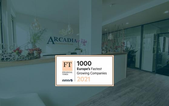 ARCADIA zählt auch 2021 zu Europe's Fastest Growing Companies