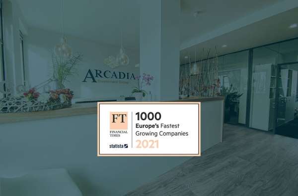 Der Projektentwickler ARCADIA zählt bereits zum dritten Mal in Folge zu den europäischen Wachstumschampions