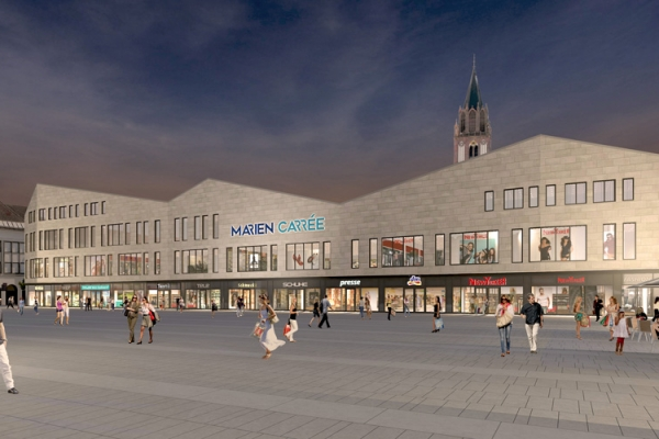 Rendering of the Marien-Carrée at 1 Treptower Straße in Neubrandenburg