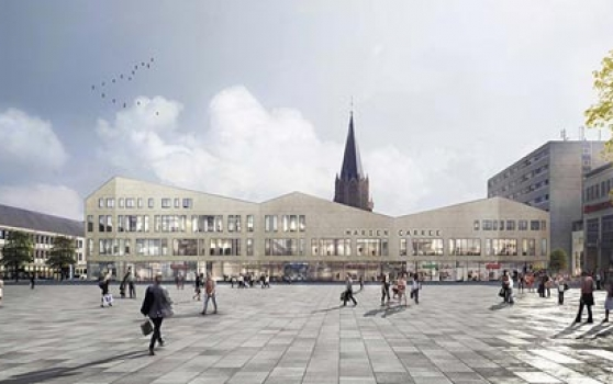 Achim Griese and ARCADIA let shop and office space to Stadtwerke