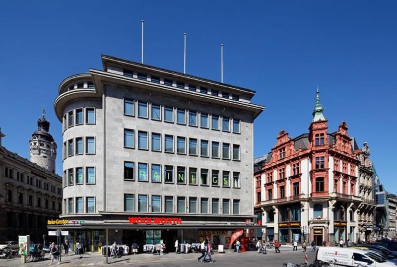 Das Merkurhaus ist eines der bekanntesten historischen Gebäude der Leipziger Innenstadt